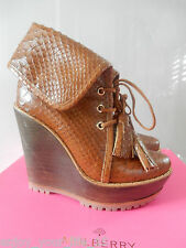 MULBERRY WEDGE BOOTIE SILKY SNAKE PRINT UK 36