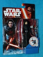"Star Wars Action Figure 3 3/4"" UNMASKED KYLO REN Carded The Force Awakens"