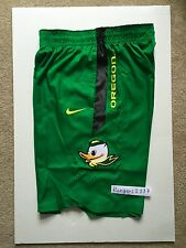 Nike Men's Oregon Ducks Basketball Apple Green Shorts Stitched Puddles Size M