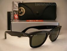 Ray Ban 2140 Wayfarer Black w Green Crystal (G-15) Lens (RB2140 901 50mm)