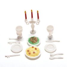 13 Pcs Play House Toys for Children Kids Candlelight Dinner Props  Barbies HU