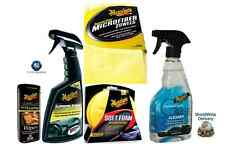 MEGUIARS GLOSS PROTECTANT MICROFIBER TOWELS GLASS CLEANER FOAM PADS LEATHER WIPE