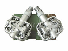 New Wellgo WPD-801 Alloy MTB Road SPD Clipless Bicycle Bike Pedals Silver