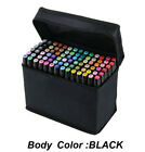 Hot Sell  Alcohol Graphic Art Twin Tip Marker Pen 80 Colors Set Fine & Broad Tip