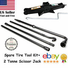 For 2004-2014 Ford F-150 Spare Tire Tool Exension Iron Kit +2 Tonne Scissor Jack