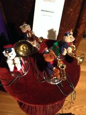 1995 Mr. Christmas BEAR BRASS BAND 21 Carols 4 Animated Plush Bears Musical