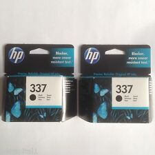 2 x HP Black Original OEM Inkjet Cartridges No 337 C9364EE