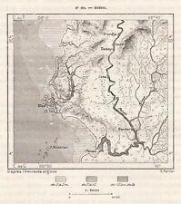 DINDING DIND SEDANG BOTA CARTE MAP PLAN VIETNAM VIET NAM IMAGE 1883 PRINT