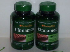 CINNAMON 500mg SUPPORTS SUGAR METABOLISM WEIGHT LOSS PILLS 200 CAPS 2 BOTTLES