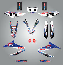 Full  Custom Graphic  Kit -AUSSIE PRIDE - YAMAHA WR 125 R