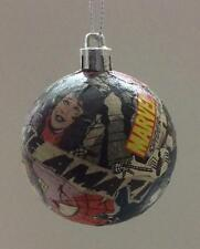Decoupaged Marvel comics Christmas tree baubles. Each hand crafted & different.