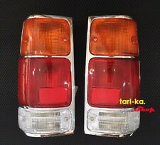 Pair Rear Combination Tail Lights Chrome For 88-97 ISUZU Pickup TF TFR