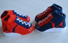 Nike Air Jordan 23 Baby Infant Booties socks crib shoes red navy blue 0-6M boy