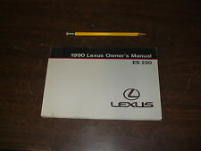 1990 LEXUS ES250 owners Manual Manuals OEM