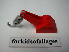 Lego Red Tow Truck Crane w/Gray Hook Car Vehicle Hitch Part #3135 (3135c02)