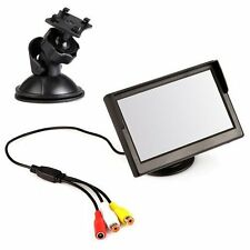 "5""inch Monitor Car Monitor For Rearview Camera Dvd Vcr + 2 Bracket"