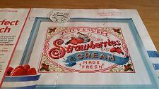 CROSS STITCH CHART STRAWBERRIES AND CREAM CHART FRESH SWEET JUICY FRUIT