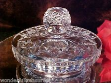 NEED A LID? FAB Crystal CUT Glass Cookie Biscuit Jar DIAMOND POINT Knob!