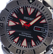 NEW VERSION MENS 24 JEWEL 4R36 200M DIVE RATED SEIKO MONSTER SRP313K2