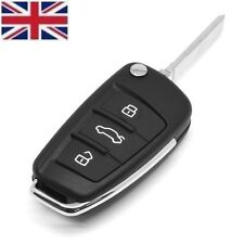 UK Seller 3 Button FLIP REMOTE KEY FOB CASE & Blade For AUDI A4 A6 A3 TT A8 Q7