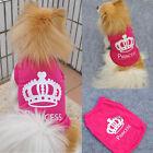 Fashion Pet Dog Cat Princess T-shirt Clothes Costumes Outfit Vest Summer Coat
