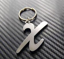 X Lettera Alfabeto Nome Portachiavi Su Misura Acciaio Inox Regalo