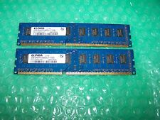 Elpida 4GB PC3-8500U 1066MHz DDR3 no ECC 2x 2GB conjunto de memoria CL7 ()