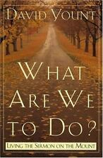 What Are We to Do?: Living the Sermon on the Mount Yount author  Making a Succe