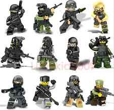 12pcs The Wraith Assault Mini Figures Military Building Toy With Weapons Kid Toy