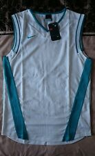 Nike Basketball Jersey Vest Sleeveless White & Green Top Small Men's