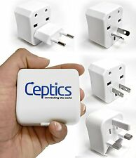 Ceptics International Universal Travel Plug Converter Adapter 3 Piece Kit