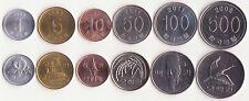SOUTH KOREA, 1, 5, 10, 50, 100, 500 Won 1983-2012 UNC, Set of 6 Coins