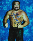 Sylvester Terkay signed 8x10 color wrestling photo RARE WWE WWF MMA Man-Bear ECW