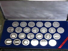 FRANKLIN MINT 25 COINS OF THE CARIBBEAN-STERLING SILVER SET-OUTSTANDING!!