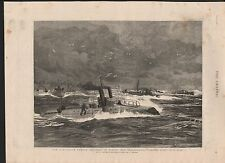 1885 IRELAND THE PARTICULAR SERVICE SQUADRON IN BANTRY BAY TORPEDO FLEET IN GALE