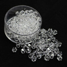 Hot 100pcs 4mm White Czech Style Crystal Jewelry Charm Loose Bicone Beads