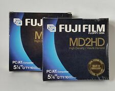 """Vintage Computer Floppy Disks (19)  5-1/4"""" FujiFilm High Density Double Sided"""