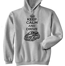 FIAT ABARTH 2015 INSPIRED KEEP CALM P - GREY HOODIE - ALL SIZES IN STOCK