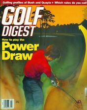 1989 Golf Digest Magazine: How to Play the Power Draw/Bush & Quayle