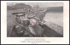 Doc.Ancien BIARRITZ Après le Raz de Marée Vieux Port  1924 -1j