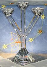 NEUw. Villeroy & Boch Glas Kerzenständer 3-flammig signiert V&B Bleikristall