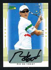 Rik De Voest signed autograph auto 2013 Ace Authentic LEAF Tennis Card 10/10