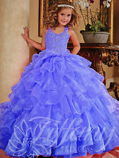 Formal Dresses Pageant Dress flower girls Prom birthday Party Princess Ball Gown