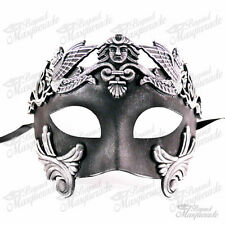 Men Egyptian Greek Venetian Masquerade Mask - Roman Warrior - Vintage Silver