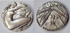 GRILLI medaglia bronzo argentato FAO Roma 1976 Riforma Agraria 70 mm  S.J.