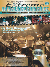 "EXTREME INDEPENDENCE"" DRUMMING METHOD MUSIC BOOK/CD-DRUMS-INSTRUCTIONAL-NEW SALE"