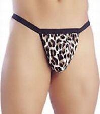 mens sexy leopard posing pouch novelty underwear stripper fancy dress