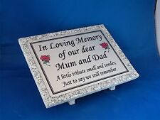 Personalised Grey Granite Memorial Grave Plaque Stone Fathers Day Dad Papa