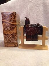 Vintage Avon Western Saddle Decanter (1971-72) Wild Country After Shave!