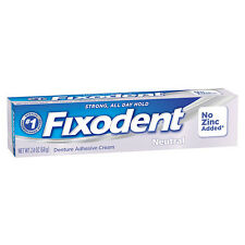 Fixodent Denture Adhesive Cream Neutral 2.4 oz